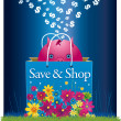Stock Vector: Save and shop