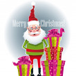 Stock Vector: Gifts from SantClaus