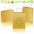 Stock Vector: Eco bags