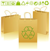 Eco bags — Stock Vector