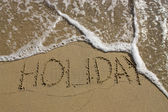 End of holiday — Stock Photo