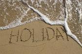 Slutet av semester — Stockfoto