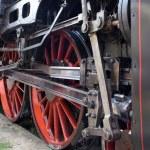Locomotive wheels — Stock Photo