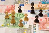Financial chess — Stock Photo