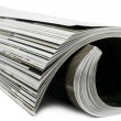 Rolled magazine — Stock Photo