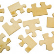 Wooden puzzle — Stock Photo