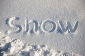 Woord sneeuw — Stockfoto