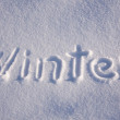 Word winter — Stock Photo #36940205