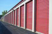 Storage Unit Doors — Stock Photo