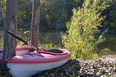 Parked Kayaks — Stock Photo