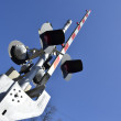 Railroad Crossing Warning — Stock Photo