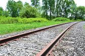 Rusty and abandoned railroad tracks — Stock Photo