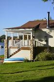 House on the lake — Stock Photo