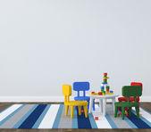Interior of playroom kidsroom — Stock Photo