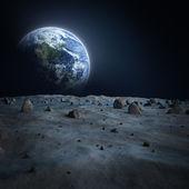 Alien de lune de la terre — Photo