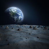 Earth moon Alien — Stockfoto