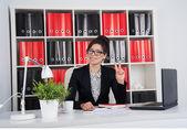 Mulher de negócios no escritório — Foto Stock