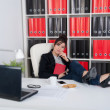Long time in the office — Stockfoto