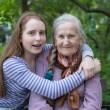 Grandmother and granddaughter — Stock Photo #26466895