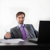 Business man wearing glasses — Stock Photo
