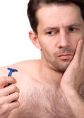 Before shaving — Stock Photo