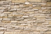 Stacked stone wall background horizontal — Stock Photo