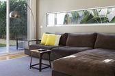 Contemporary lounge sofa interior — Stock Photo