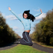 Girl in jump — Stock Photo