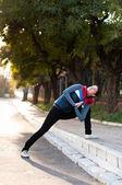 Yoga exercises — Stock Photo