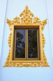 Single Window of Hor Phra in Temple of The Wat Rhai Pa, Trat, T — Stock Photo