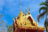 The front of Thai temple roof in Temple of The Wat Rhai Pa, Trat — Stock Photo