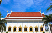 White Pavilion in Temple of The Wat Rhai Pa, Trat, Thailand — Stock Photo