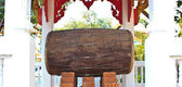Thai style drum in Temple of The Wat Rhai Pa, Trat, Thailand — Stock Photo