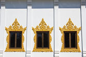 Window of Hor Phra in Temple of The Wat Rhai Pa, Trat, Thailand — Stock Photo