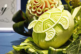 Cantaloup carving 10 — Stock Photo