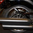 Stock Photo: Motorbike exhaust pipe