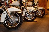 Police motorbike wheel2 — Stok fotoğraf