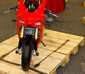 Red motobike — Stock Photo