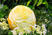Cantaloup carving 9 — Stock Photo