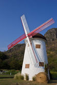 Swiss sheep farm windmill4 — Stock Photo