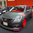 Постер, плакат: NISSAN ALMERA show at the second Bangkok international auto sal