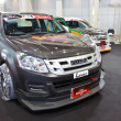 Постер, плакат: ISUZU D MAX show at the second Bangkok international auto salon
