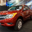 Постер, плакат: MAZDA BT 50 show at the second Bangkok international auto salon