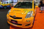 Toyota Yaris show at the second Bangkok international auto salon — Stock Photo