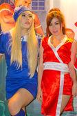 Una pose de cosplay anime japonés no identificado en tailandia juego sho — Foto de Stock