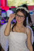 An unidentified Presenter pose in Thailand Game Show BIG Festiva — Stockfoto