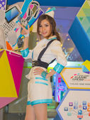 An unidentified Presenter pose in Thailand Game Show BIG Festiva — Stock fotografie