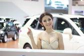 Неизвестные женщины ведущий представляют в Бангкоке международного m — Стоковое фото