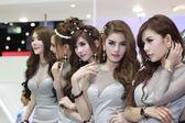 An Unidentified female presenter pose in Bangkok International M — Stock Photo