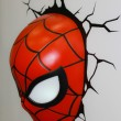 A model of the Spiderman Mask from the movies and comics — Stock Photo